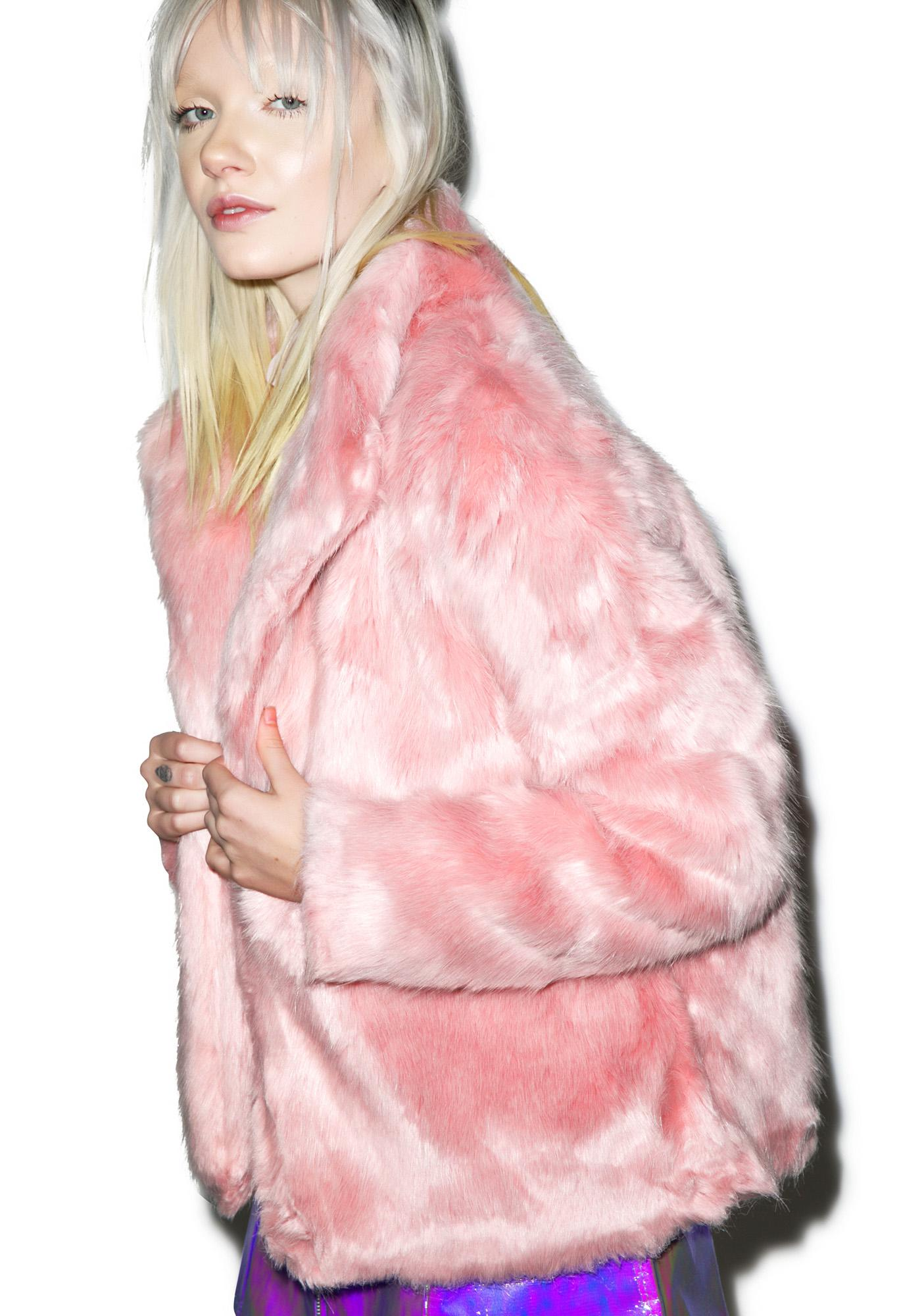 Powderpuff Faux Fur Jacket