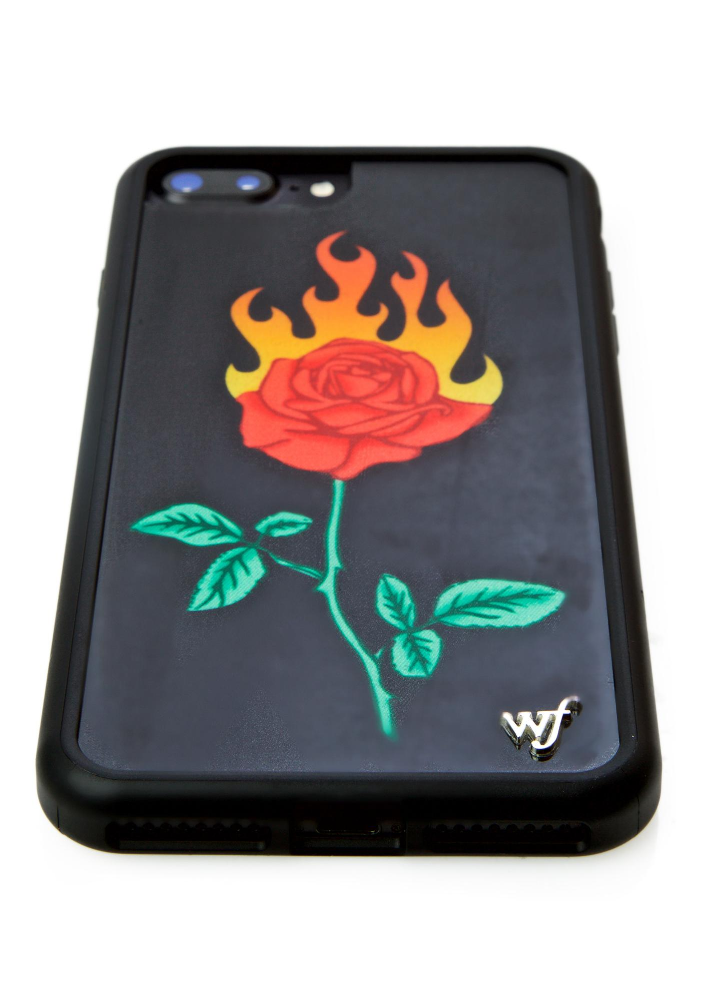 Wildflower Burning Love iPhone Case