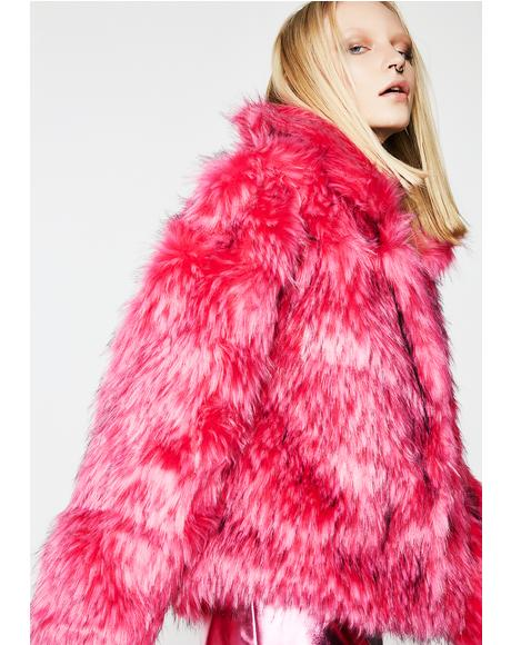 Sugar Easy Breezy Fuzzy Coat