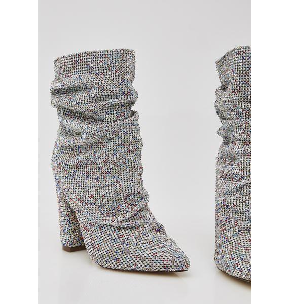 Rainbow Go Glitter Slouch Boots