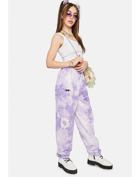 Lavender In Bloom Pigment Dyed Sweatpants