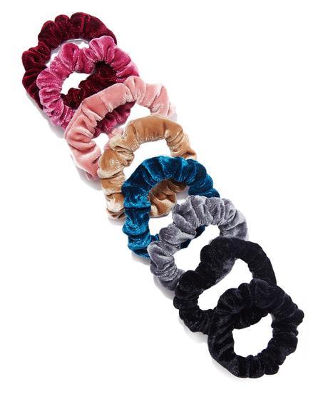 Sweetest Thing Velvet Scrunchie Set