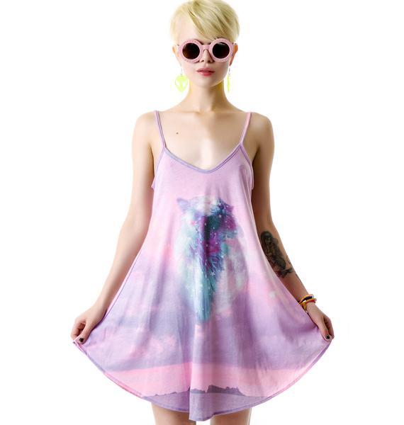 Wildfox Couture Constellation Kitty Slip Dress
