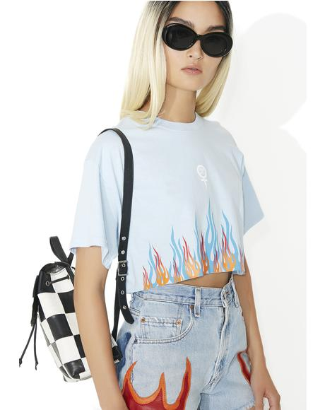 Sky Litty Cropped BF Tee