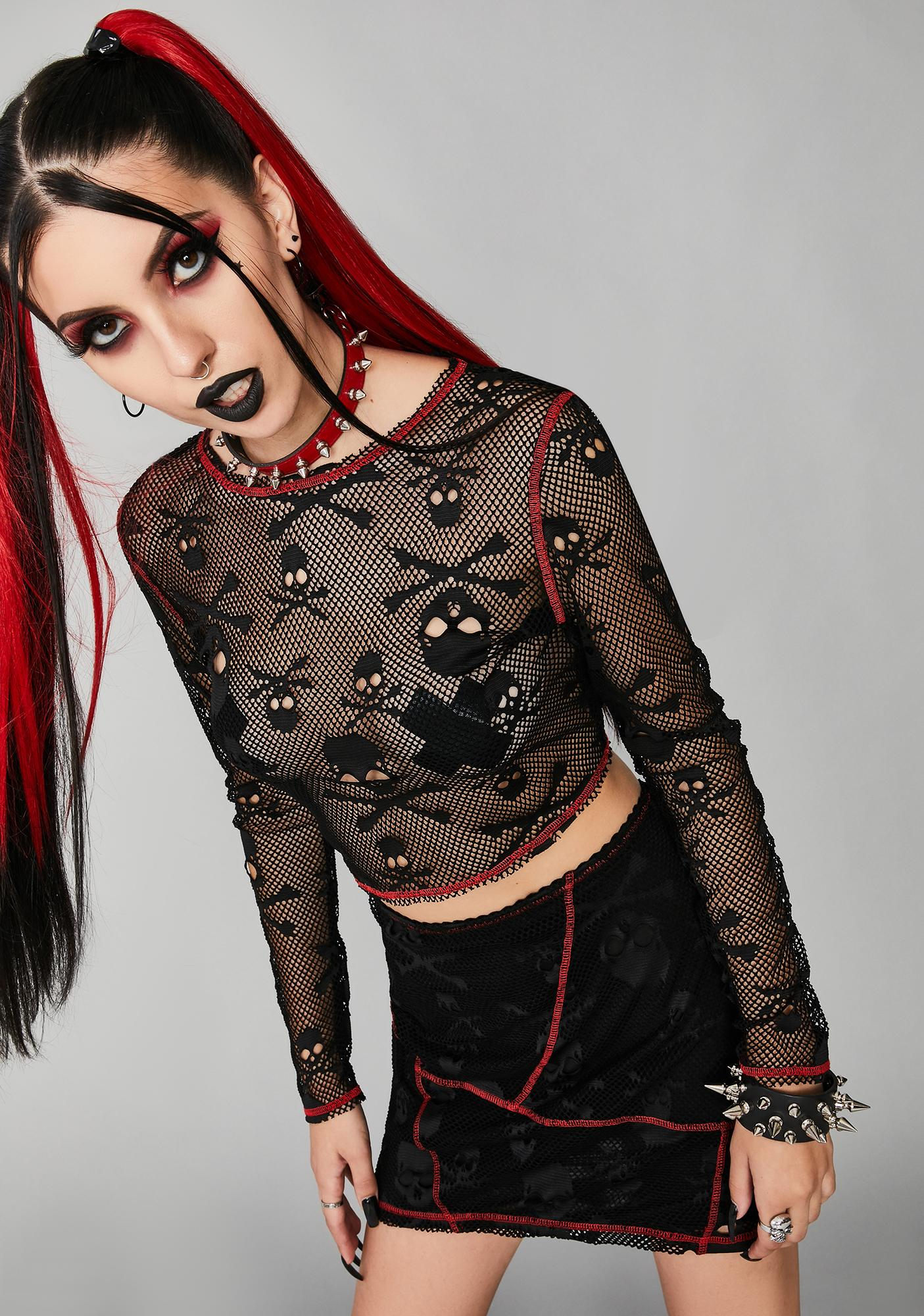 Widow Sweet Revenge Fishnet Top