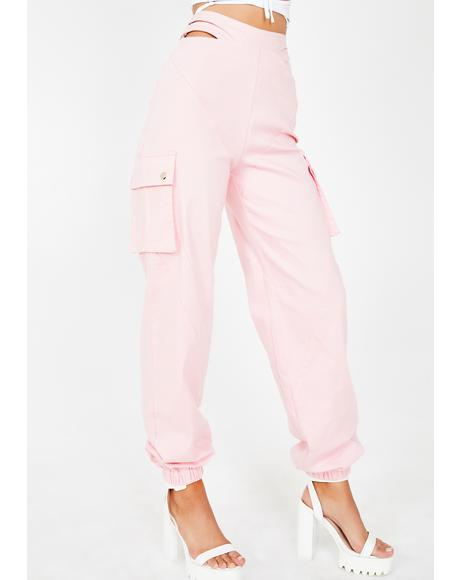 Pink Zane Cargo Pants