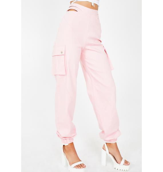 I AM GIA Pink Zane Cargo Pants