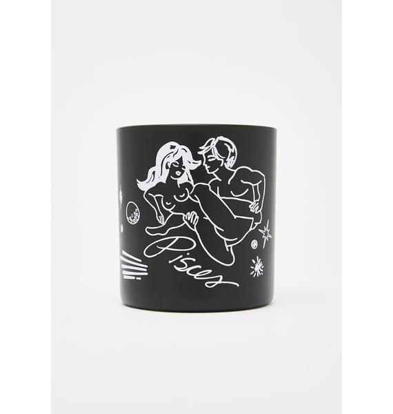 Black Cake Pisces Zodiac Massage Candle