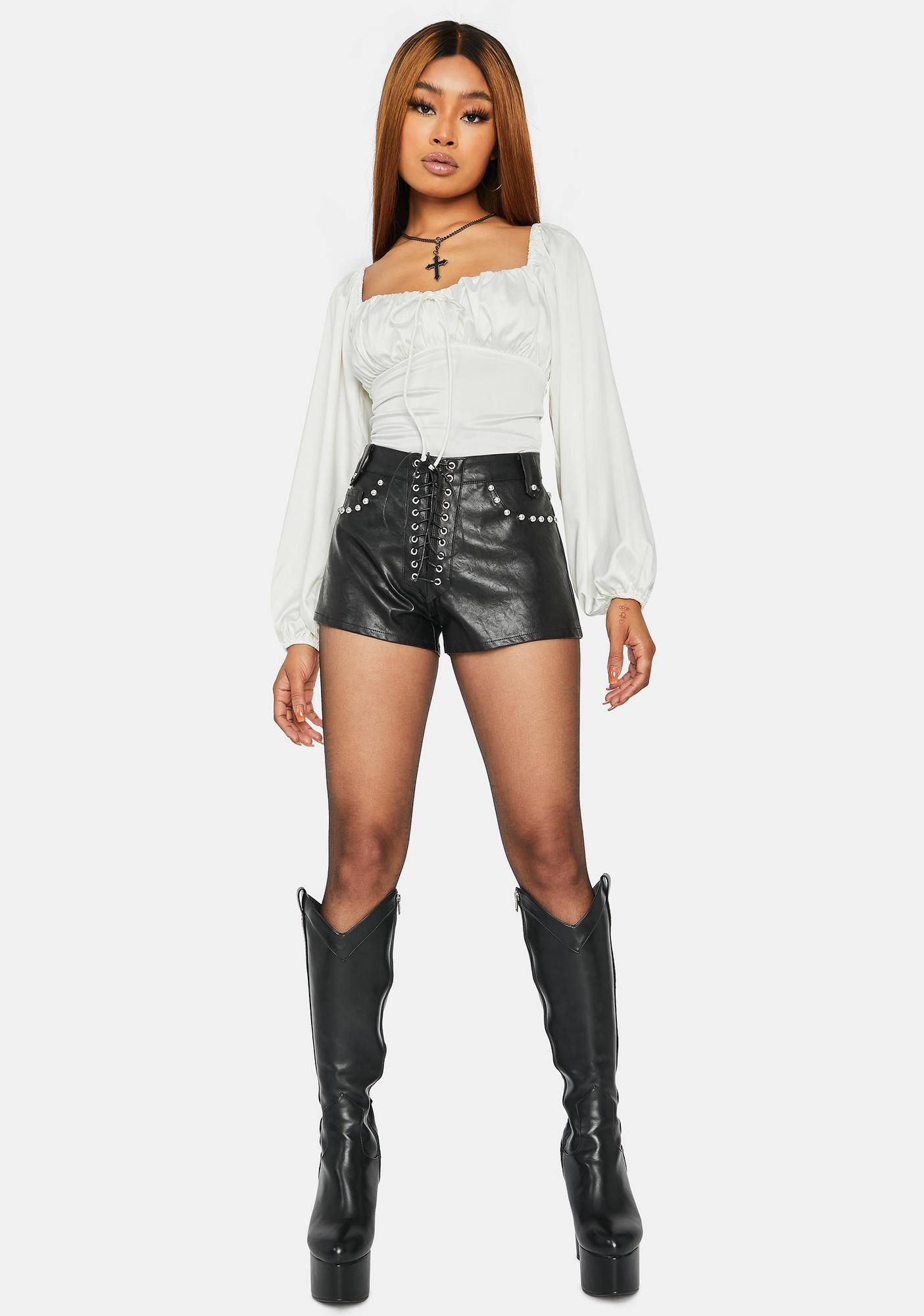 Sure Thing Ruched Long Sleeve Bodysuit