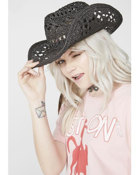 Midnight Hawt Tempered Cowgirl Hat
