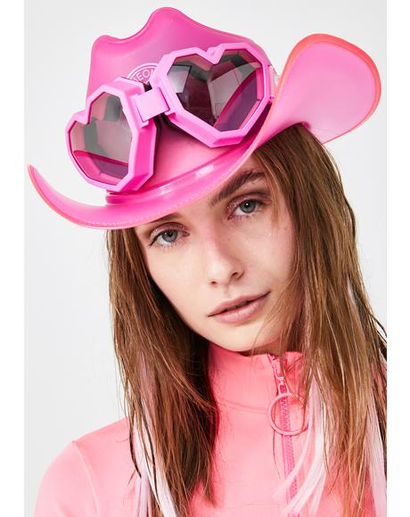 Pink Heart Goggles