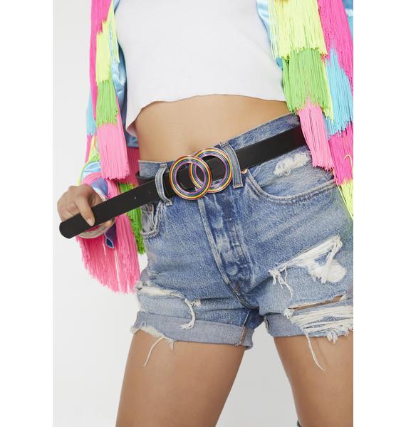 Rainbow Rodeo Ringed Belt