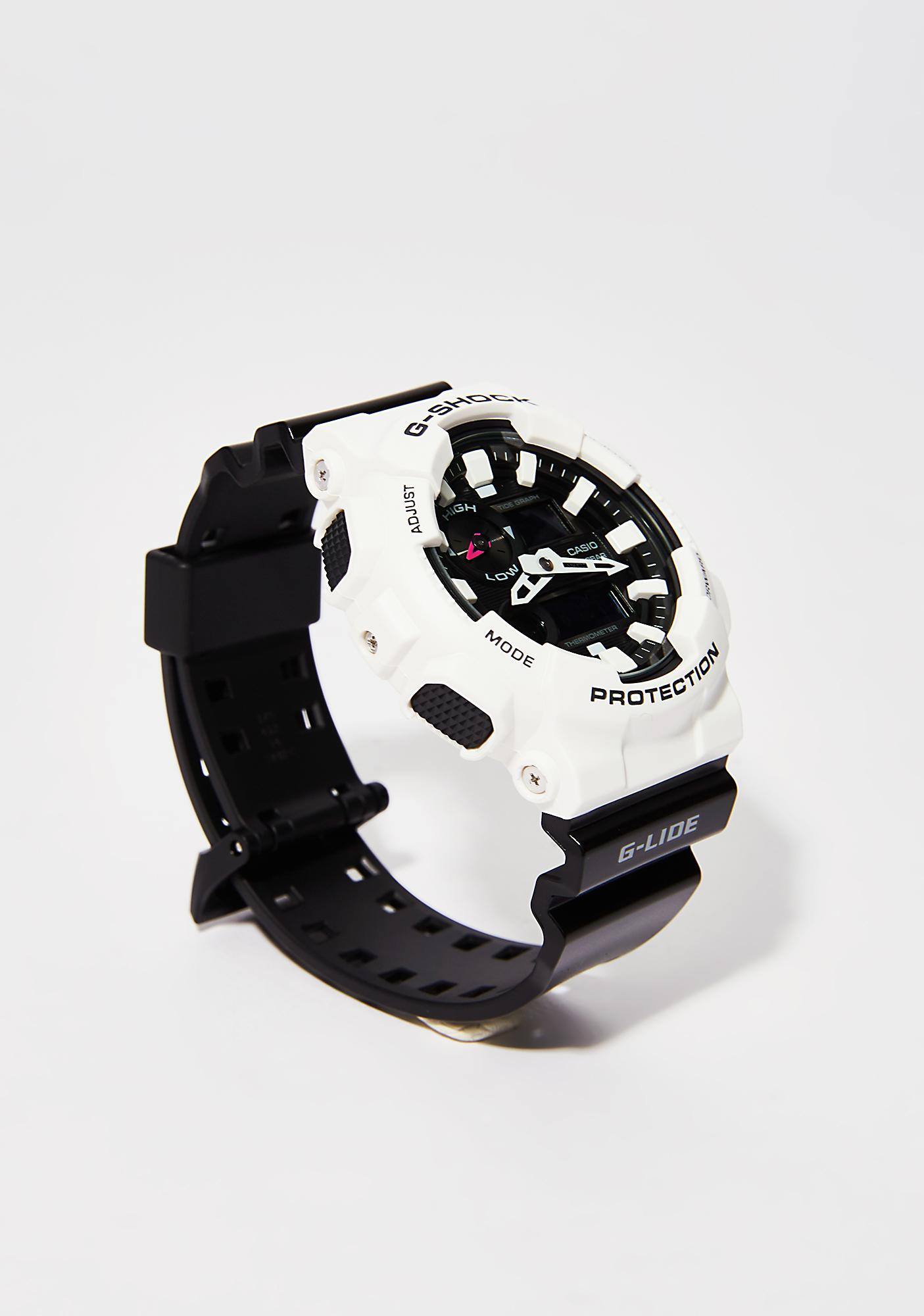 G-Shock White With Black Band Watch