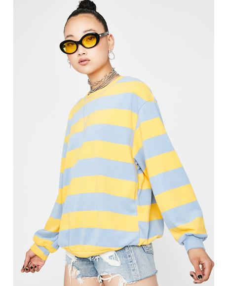Carefree Striped Pullover