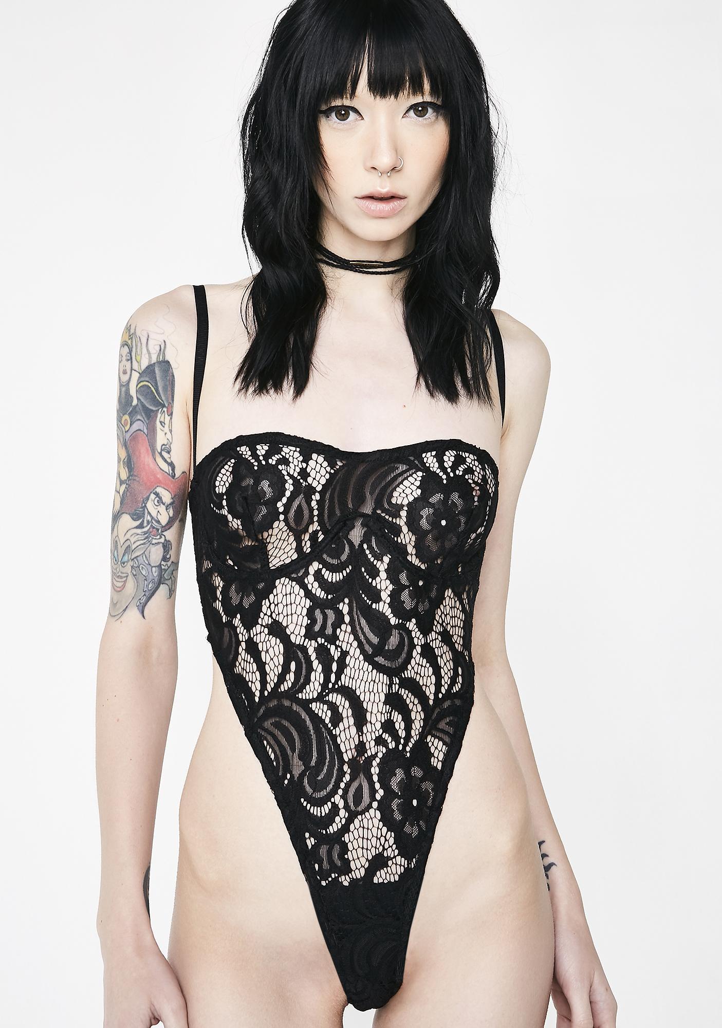 Matte Siren Lace Bodysuit