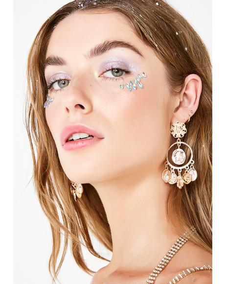 Crypto Currency Boss Dangle Earrings