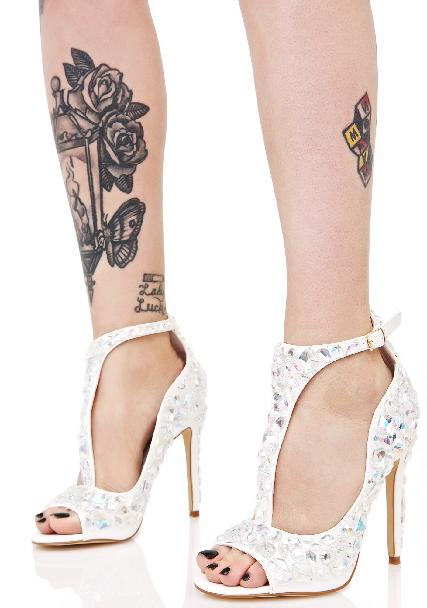 Privileged Mirage Jeweled Heel