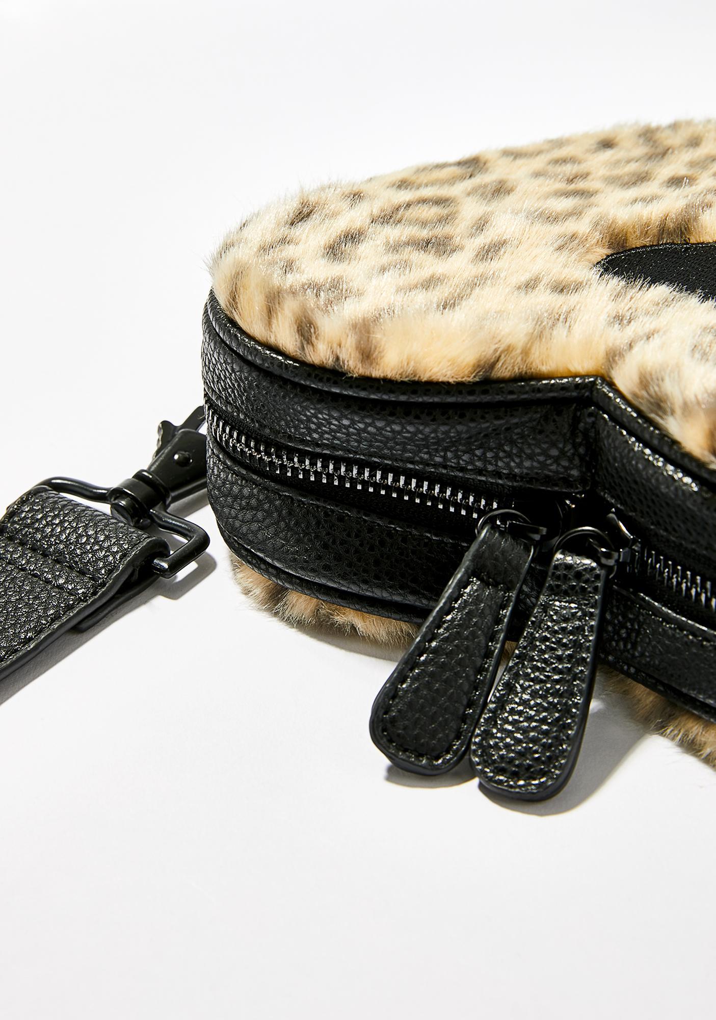 Lazy Oaf Leopard Heart Bum Bag
