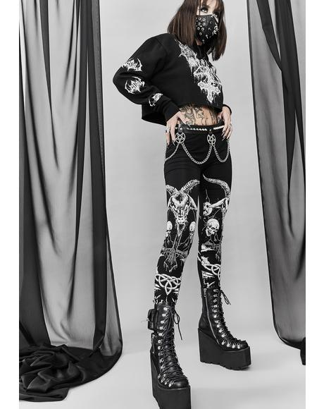 Lord Of Darkness Printed Leggings