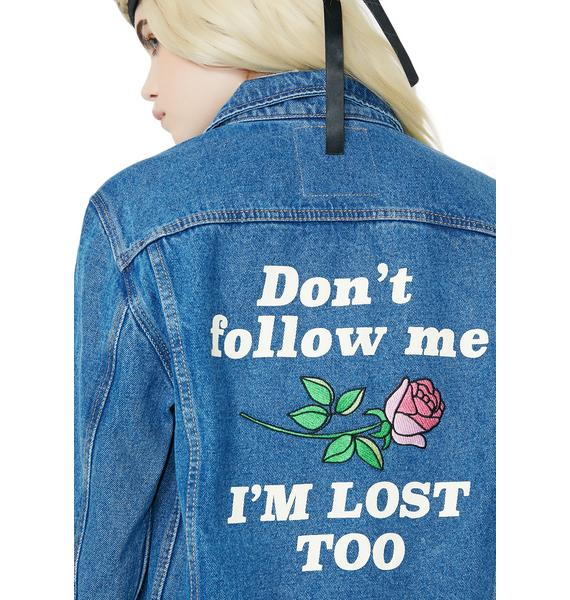 Yeah Bunny Don't Follow Me Denim Jacket