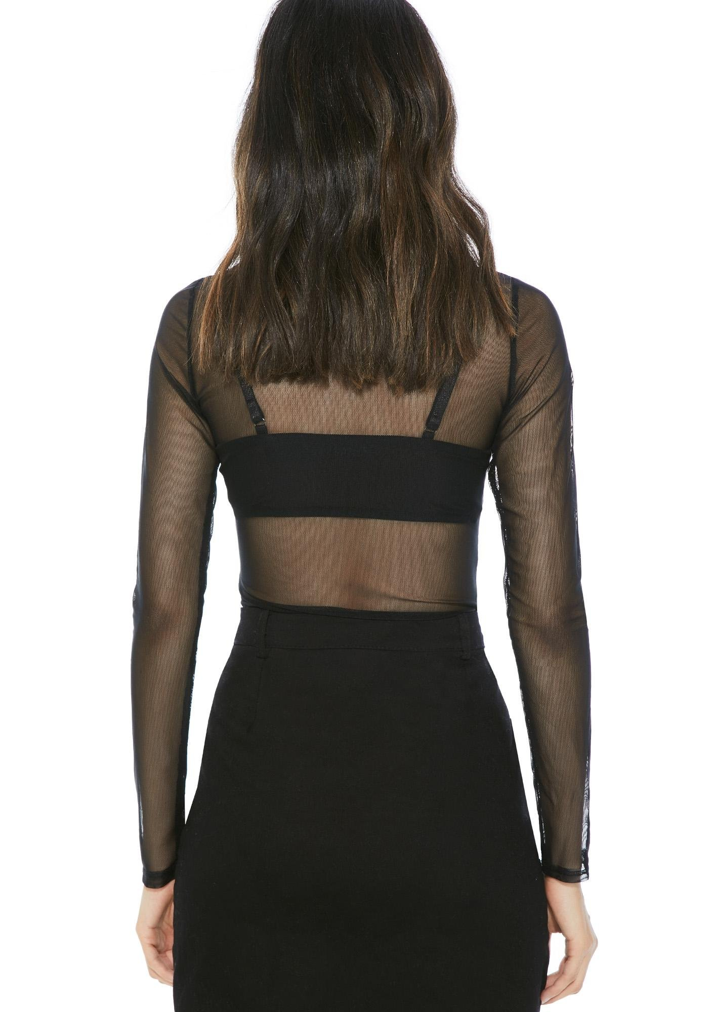Baring Thorns Mesh Top