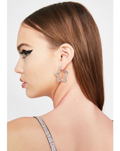 Glitzy Wish Star Earrings