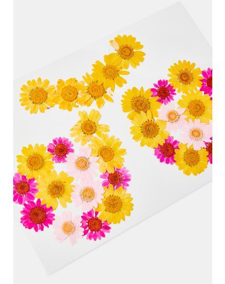 Pink & Yellow Flower Pasties