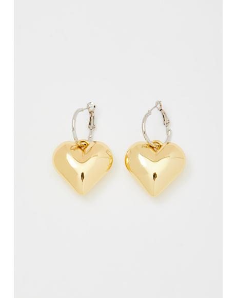 Precious Lover Heart Earrings