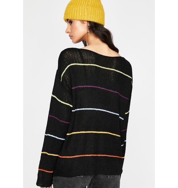 Goin' Punk Striped Sweater