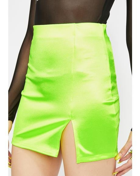 Party Fever Satin Skirt