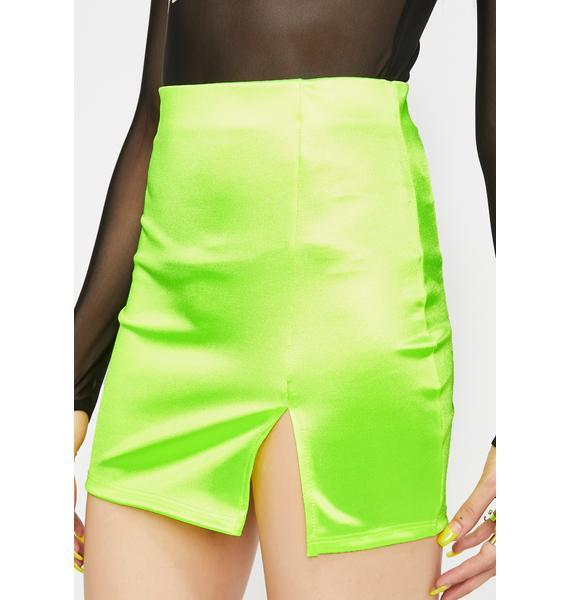 Party Fever Satin Skirt