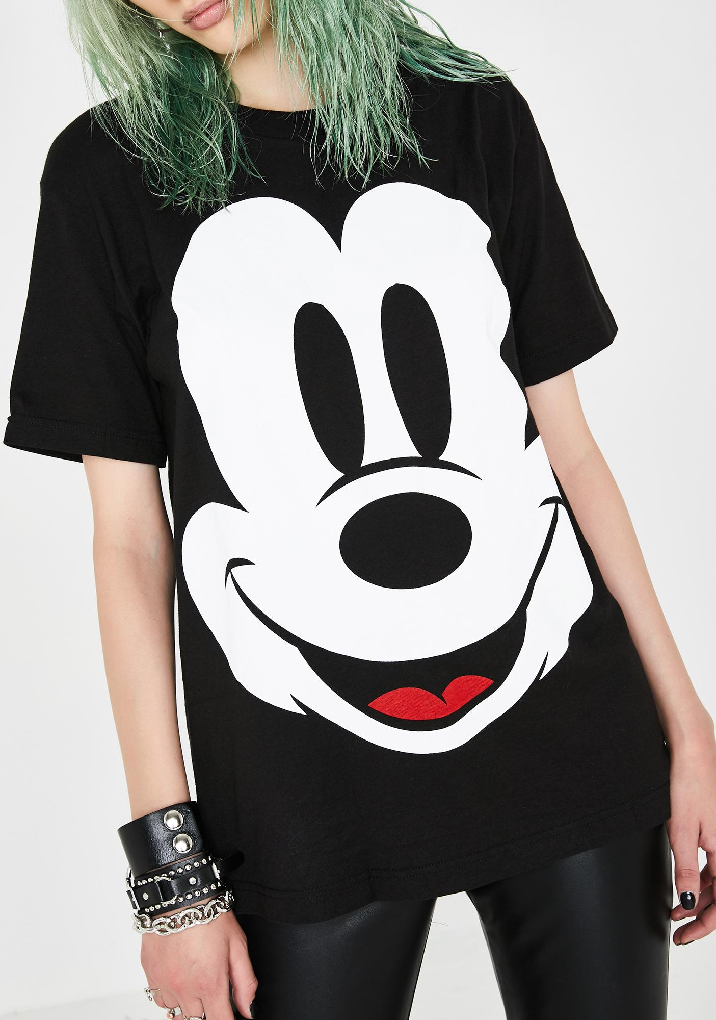Impact Mickey Face Graphic Tee