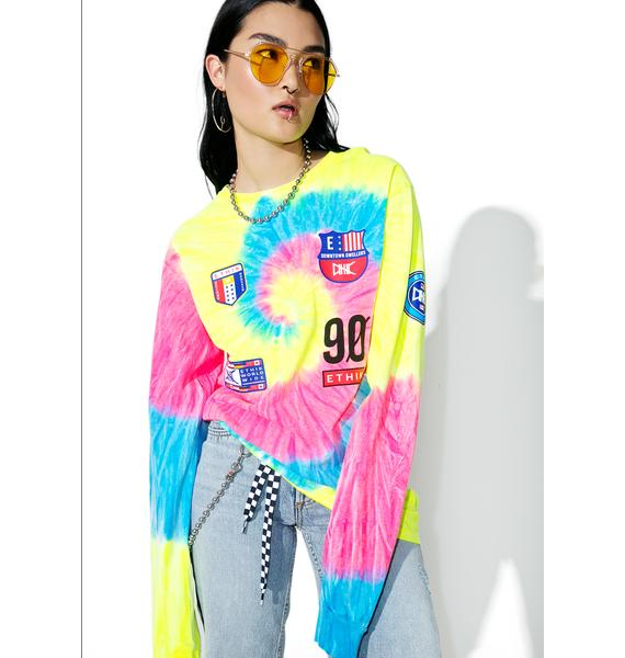 ETHIK Neon Trippy Sport Long Sleeve Tee