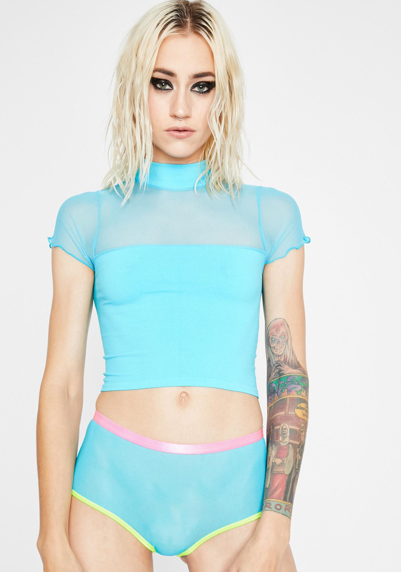 Chill Meet Me There Mesh Top
