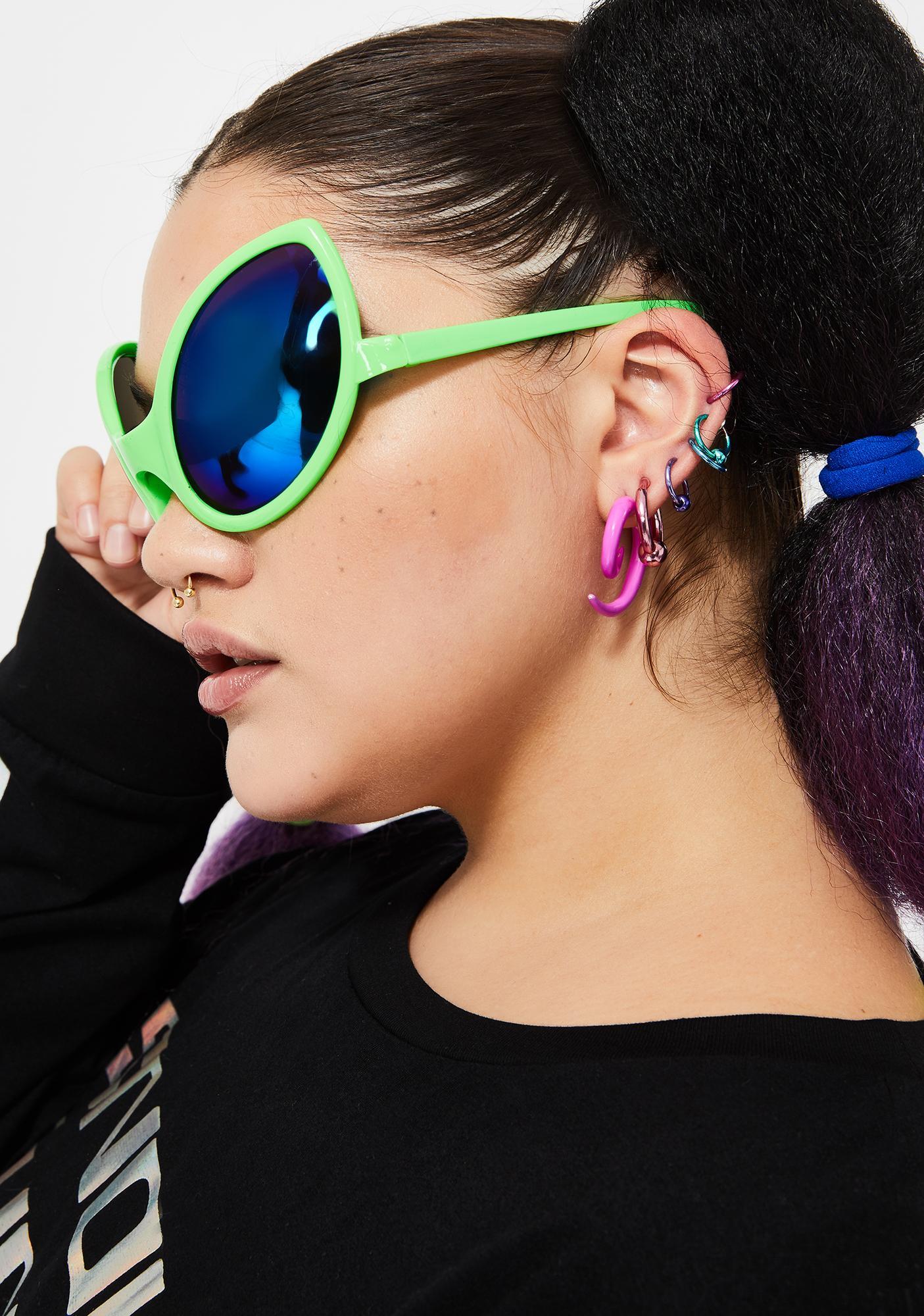 Slime Beam Me Up Alien Sunglasses