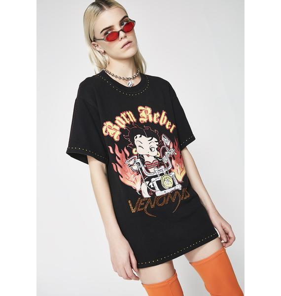 Venomiss NYC X BABEMANIA Betty Boop Born Rebel Tee