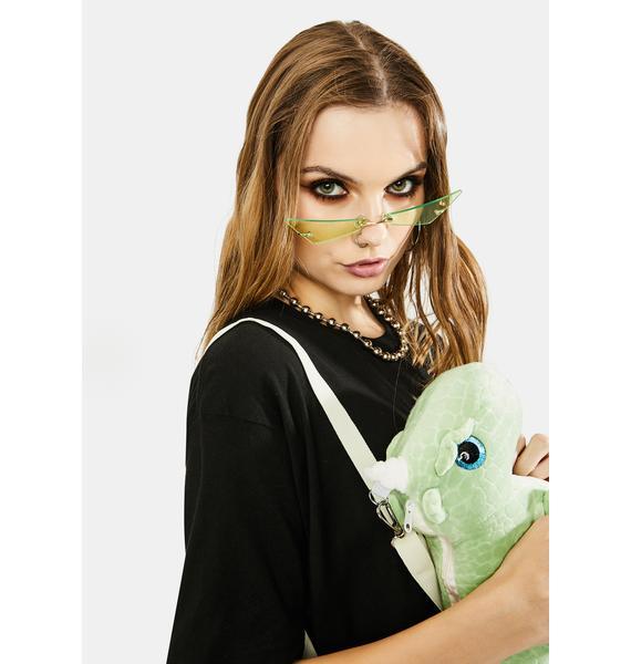 Jade Don't Mean A Thang Slim Cat Eye Sunglasses