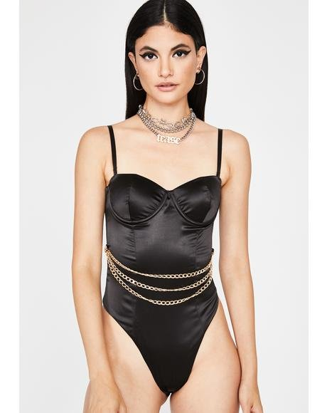 Spend It Sis Satin Bodysuit