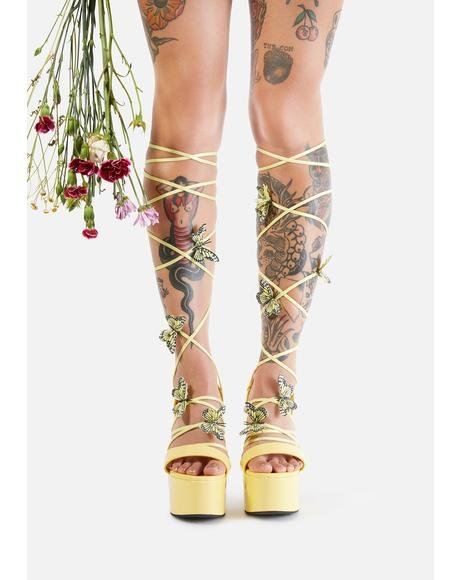 Sunny Pixie Queen Lace Up Heels