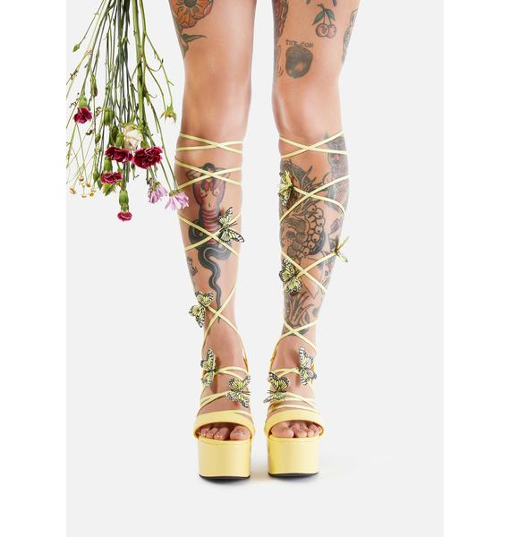Sugar Thrillz Sunny Pixie Queen Lace Up Heels