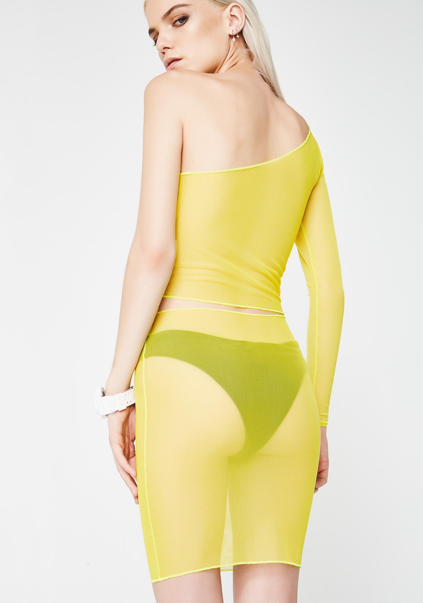 Plugged NYC Mesh Skirt