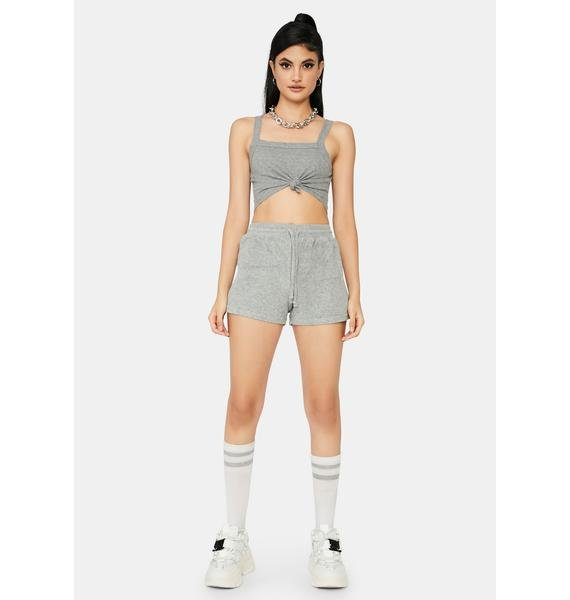 Heather Not Playing Games Lounge Shorts
