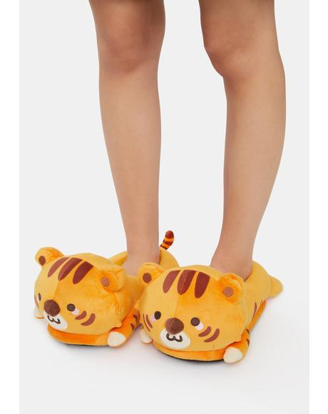 Jojo Tiger USB Heated Slippers