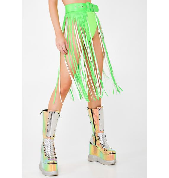 Slime Neon Dimension Fringe Belt