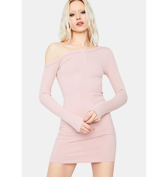 Blush Alert 'N Ready Off The Shoulder Mini Dress