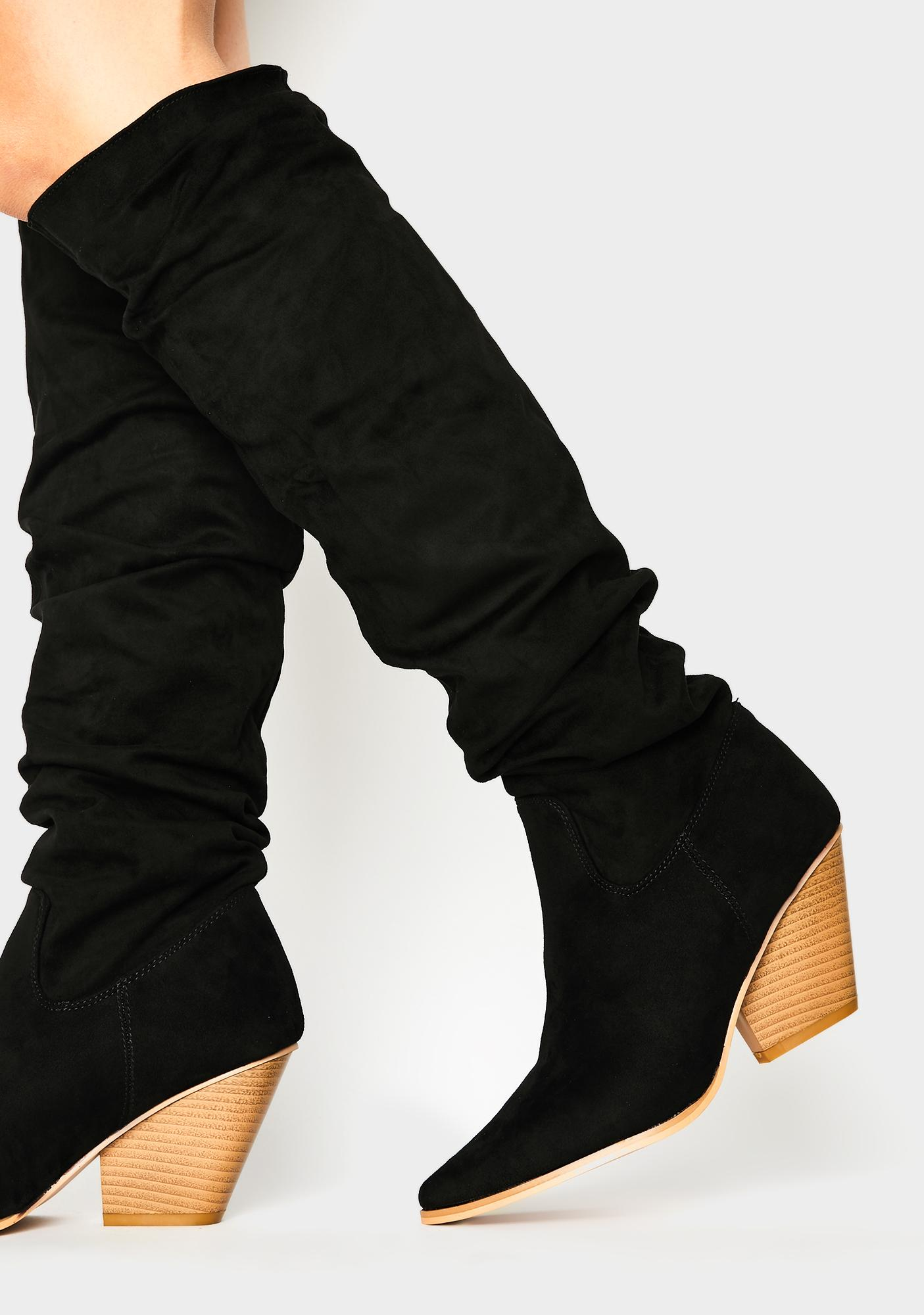 Public Desire Cody Knee High Boots