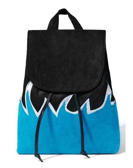 Blue Flame Mini Backpack