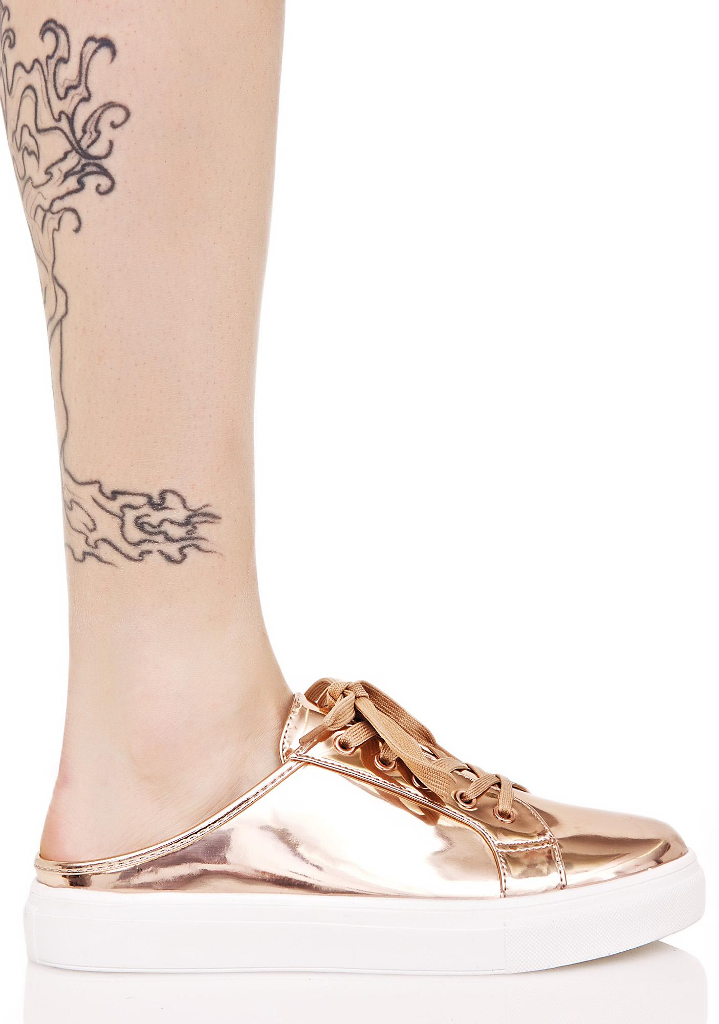 Golden Runaround Slip-On Sneakers