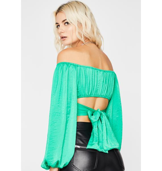 Put Me First Crop Blouse