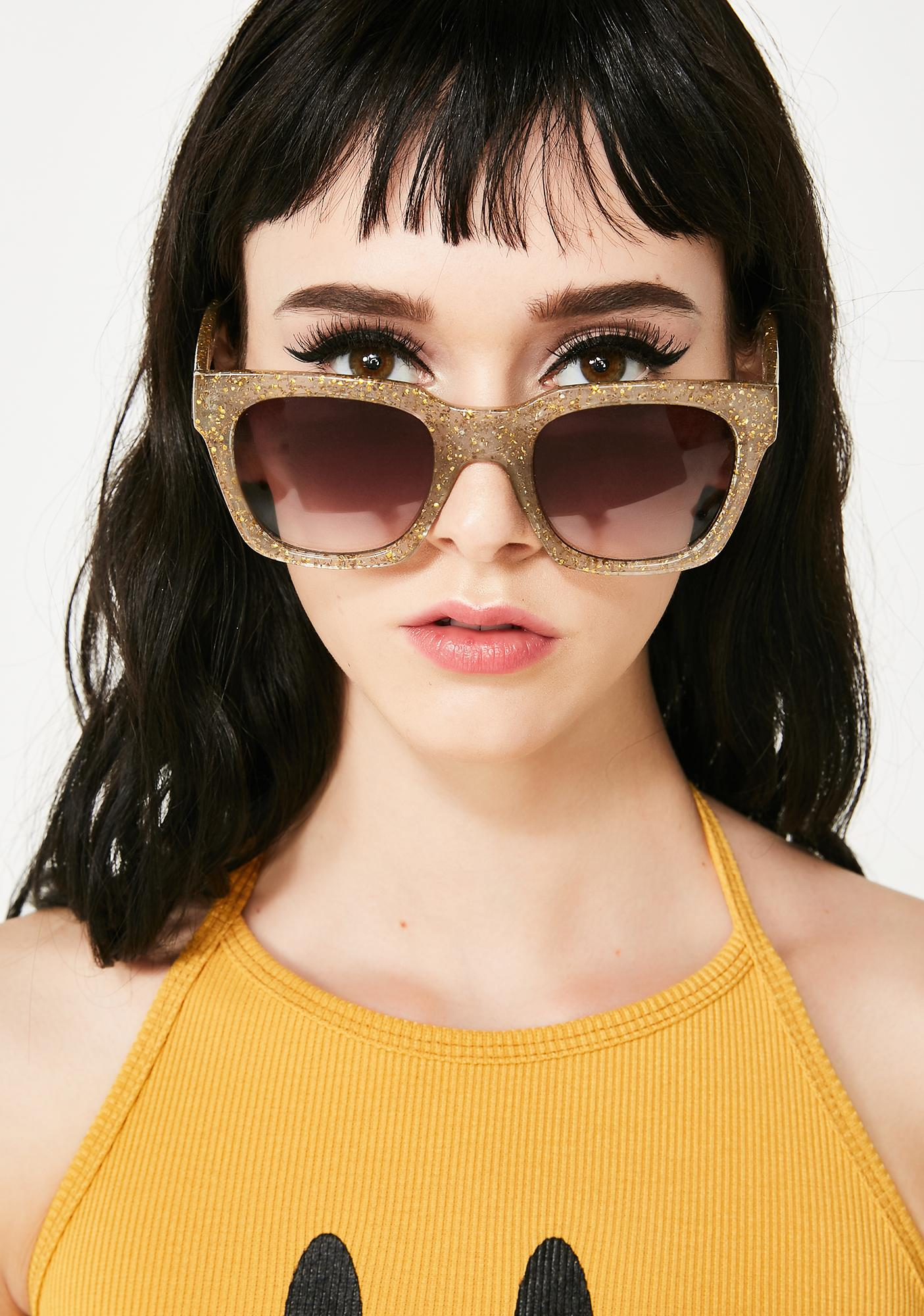Sparkle And Shine Glitter Sunglasses